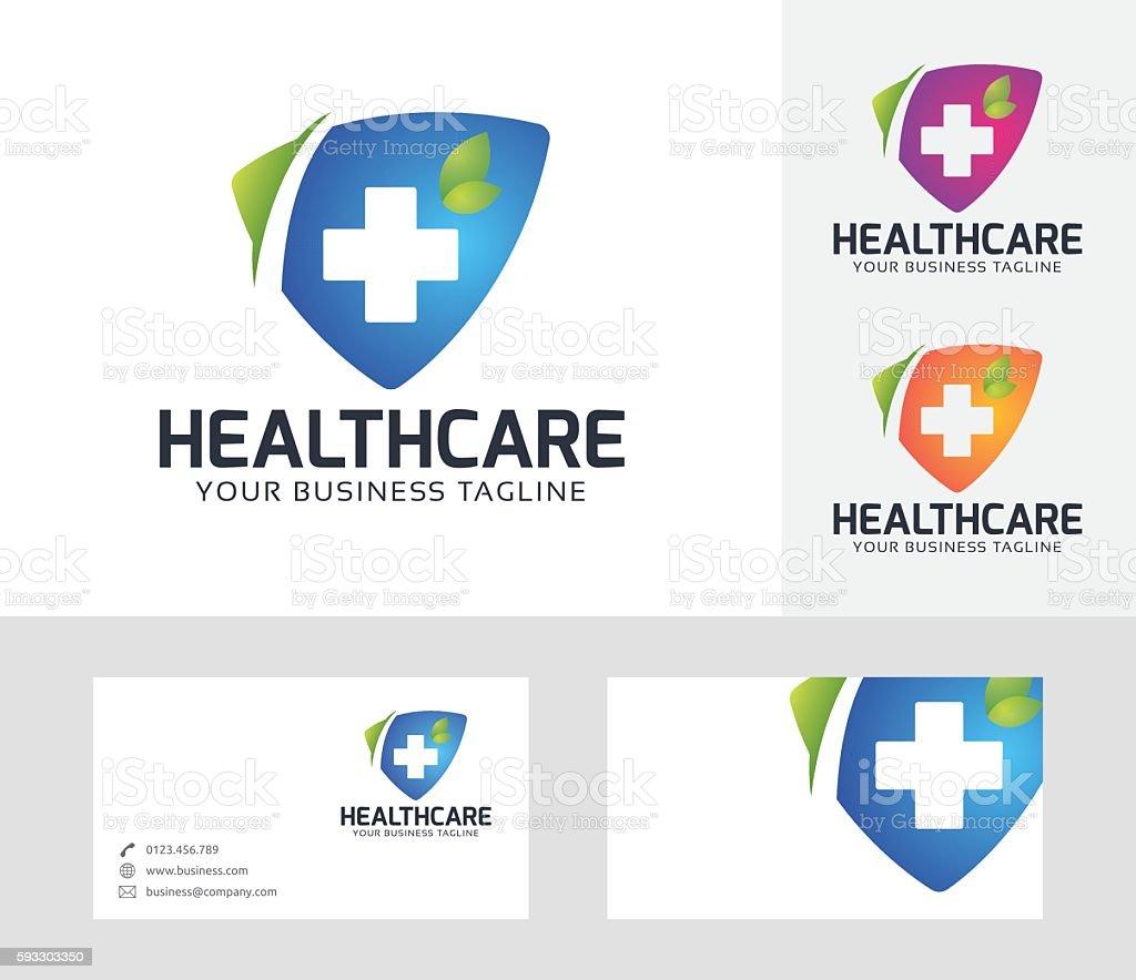 Health Care vector logo vector art illustration