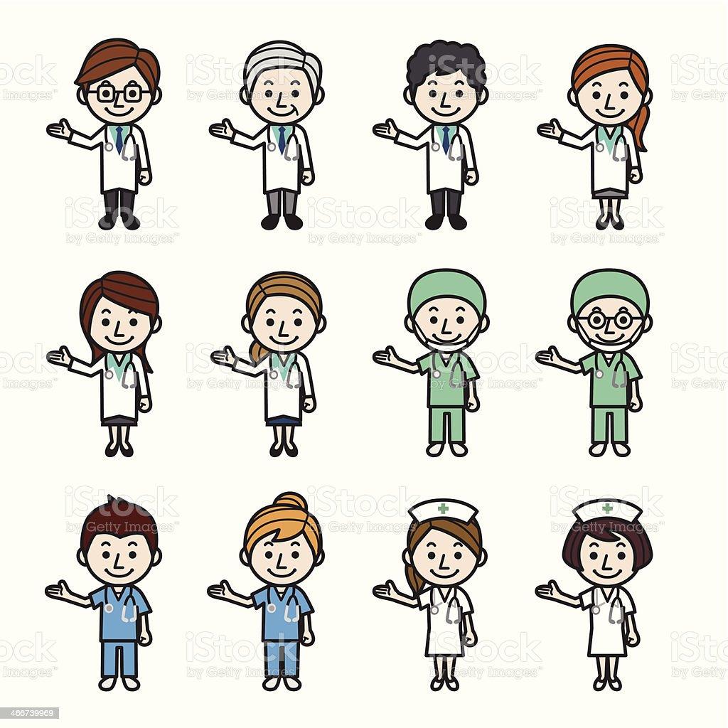 Soins de santé des travailleurs présentant - clipart vectoriel de Adulte libre de droits