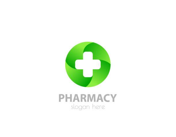 illustrazioni stock, clip art, cartoni animati e icone di tendenza di health cross template - illustration - croce farmacia
