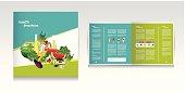 Health food brochure design.