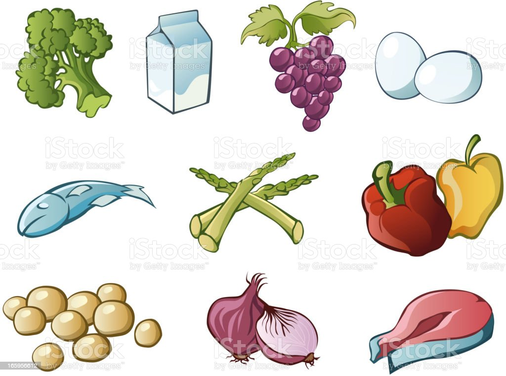 health food royalty-free health food stock vector art & more images of broccoli