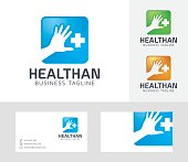 Health Hand vector logo