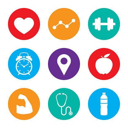 Health Icon Set Colorful