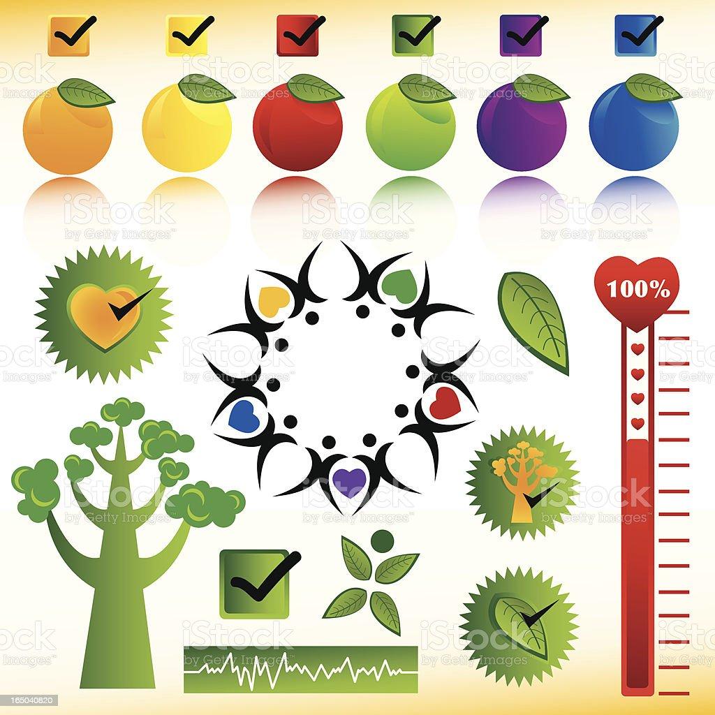 Health Icon Set royalty-free stock vector art
