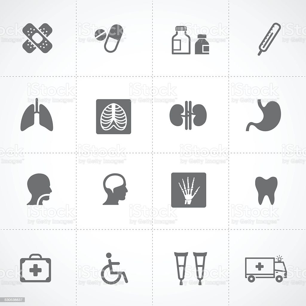 Health icons and Medical Icons vector art illustration
