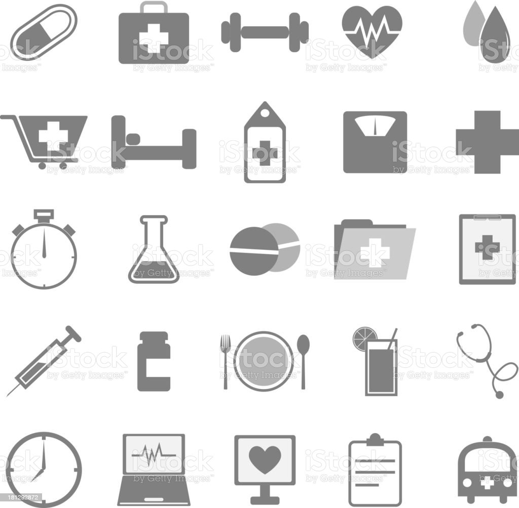 Health icons on white background royalty-free health icons on white background stock vector art & more images of activity