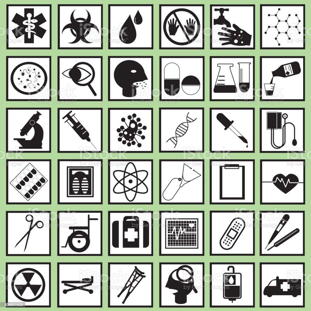 Health icons vector art illustration