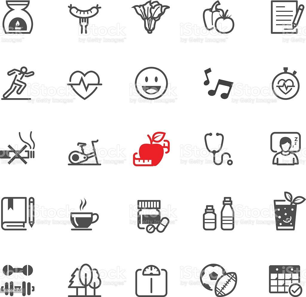 Iconos de la salud - ilustración de arte vectorial