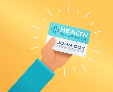 Health Insurance Card Stock Illustration - Download Image ...
