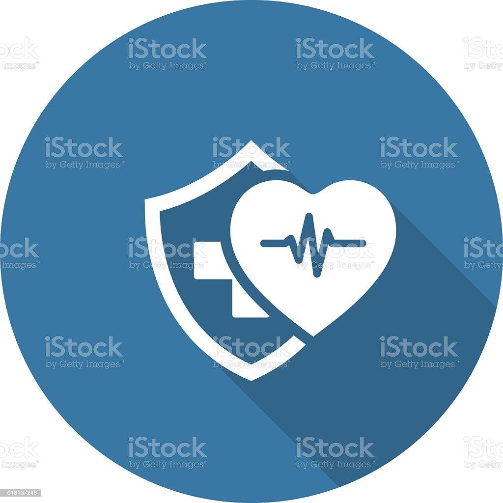 Health Insurance Icon. Flat Design. - Illustration vectorielle