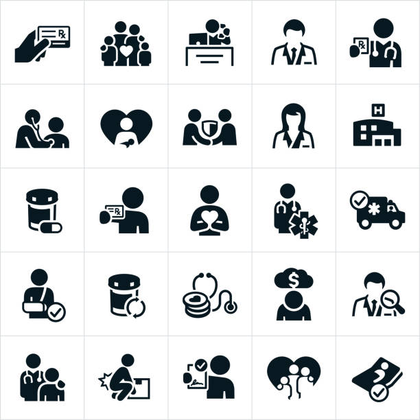 health insurance icons - insurance stock illustrations