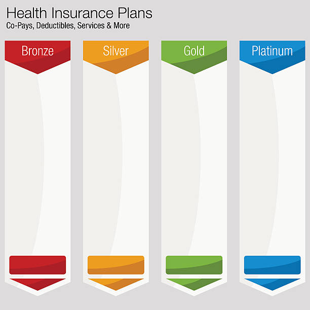 health insurance plan chart - pricing infographics stock illustrations, clip art, cartoons, & icons
