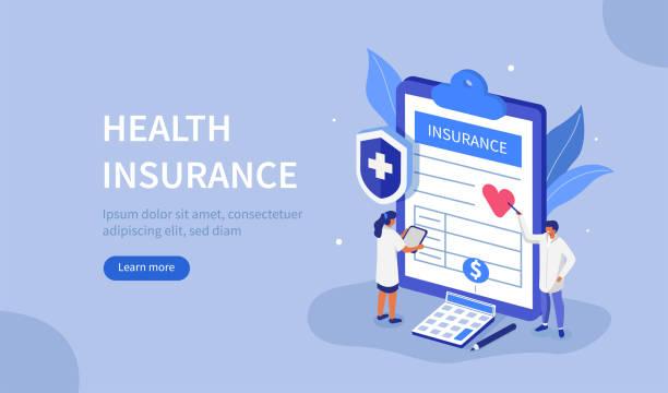 bildbanksillustrationer, clip art samt tecknat material och ikoner med sjukförsäkring - insurance