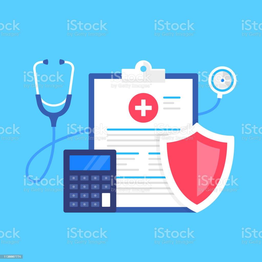 Health insurance. Vector illustration. Medical protection, medical...