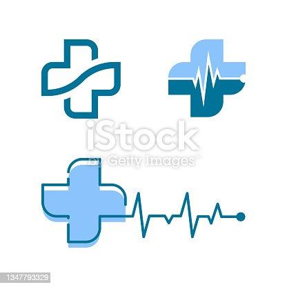 istock Health Medical icon template vector 1347793329