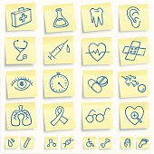 Health medical post-it notes