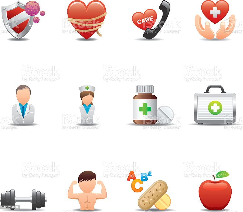 Health & Medicine Icon Set | Elegant Series royalty-free stock vector art