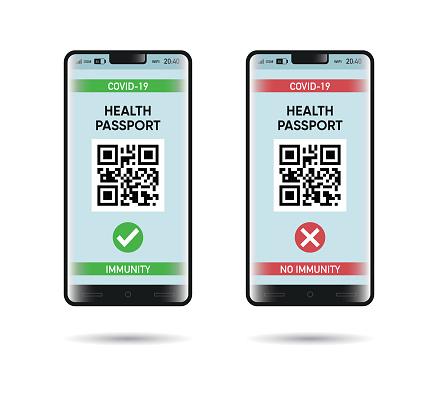Health Passport and mobile app screen
