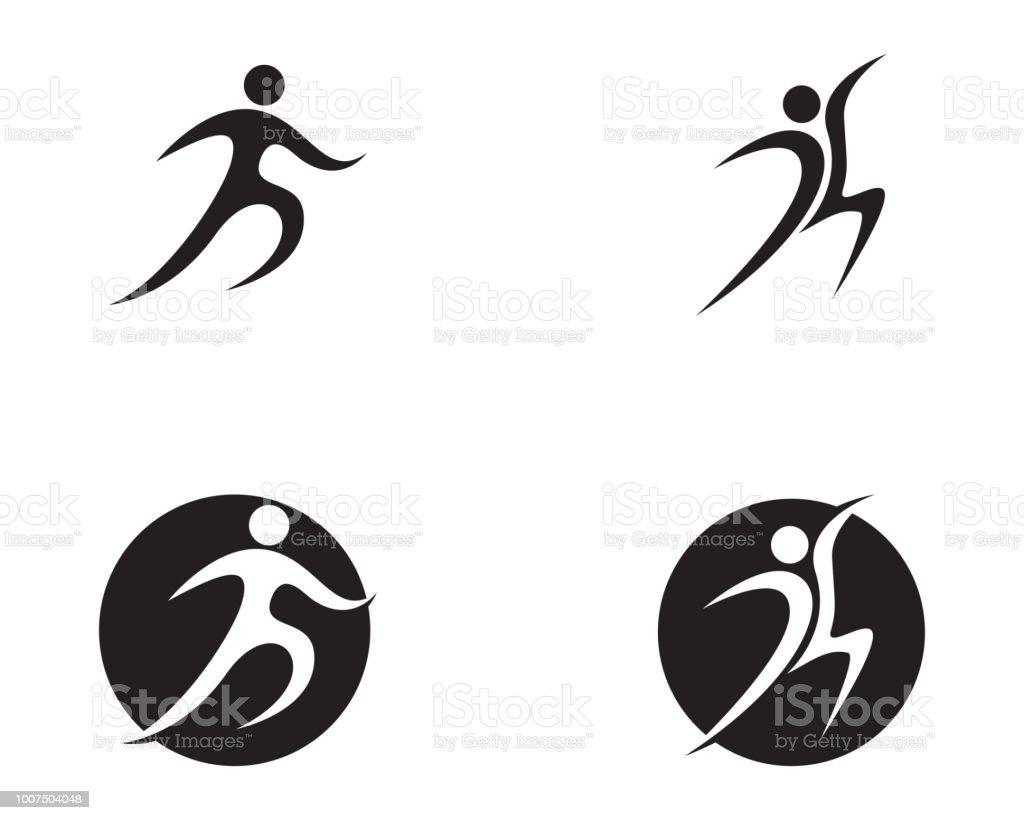 Plantilla de logo y símbolos de cuidado personas salud ilustración de  plantilla de logo y símbolos 9743a99760dbb