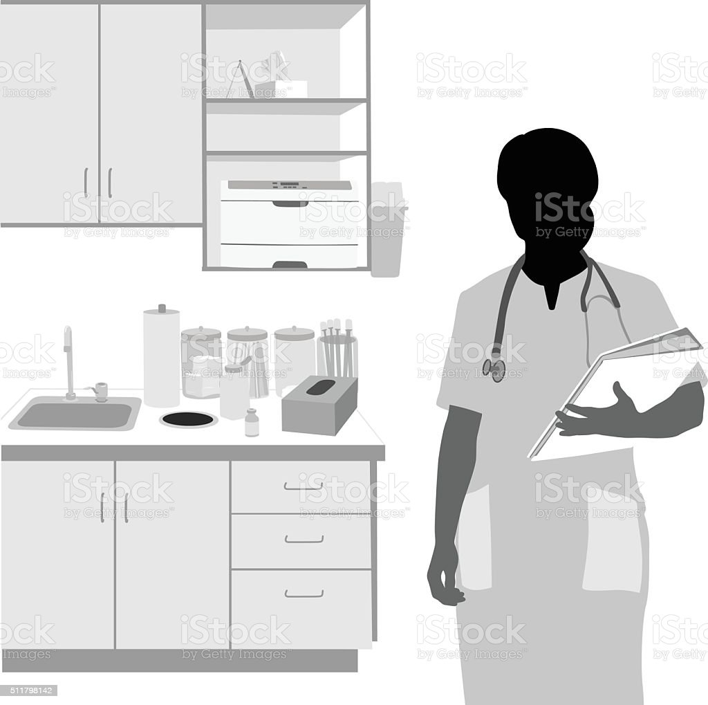 Health Practitioner's Clinic vector art illustration