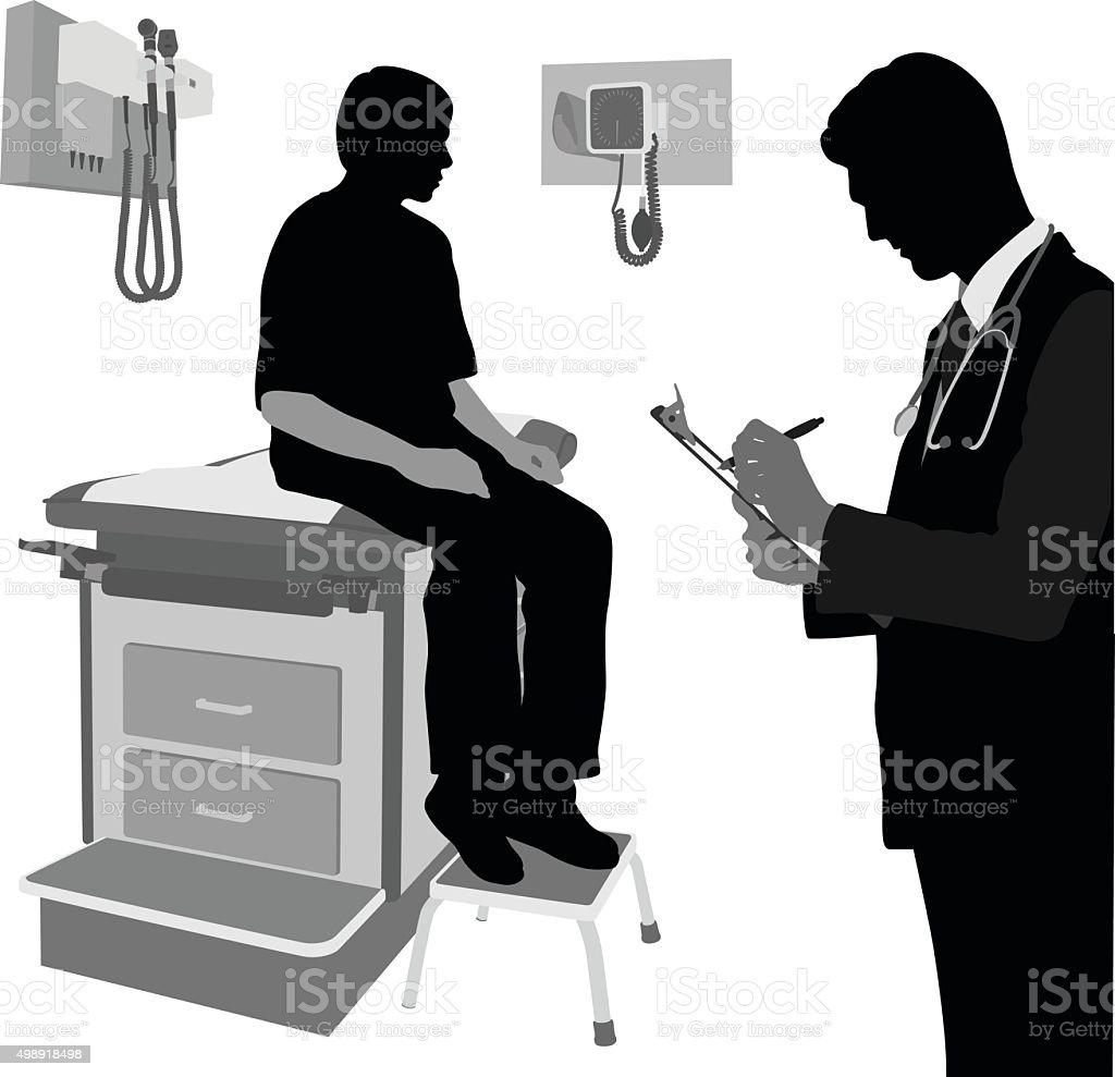 Health Problem vector art illustration