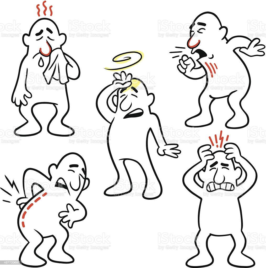 Health Problems 2 vector art illustration