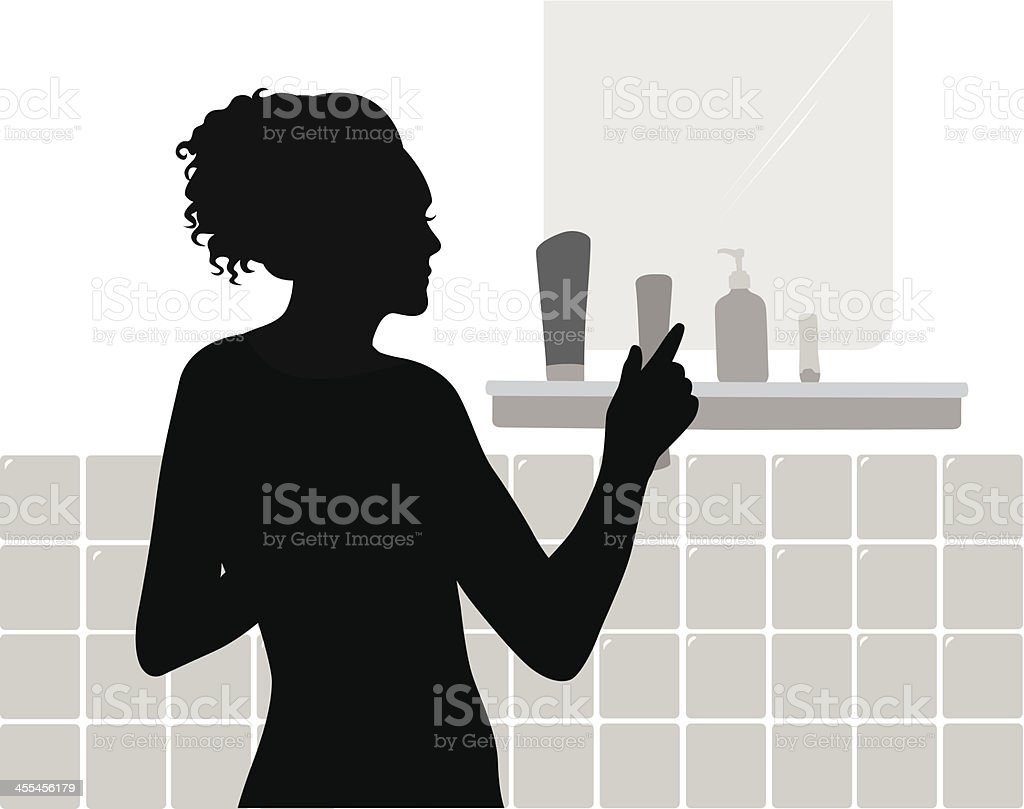 Health Products Vector Silhouette royalty-free stock vector art
