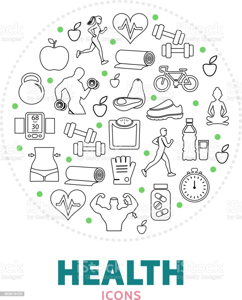 Health Round Concept - Royalty-free Adult stock vector