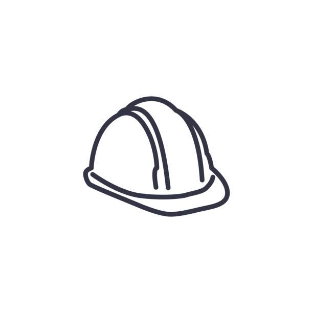 bezpieczeństwo zdrowotne, ikona środowiska - strona bezpieczeństwa rzeczy - kask ochronny odzież ochronna stock illustrations