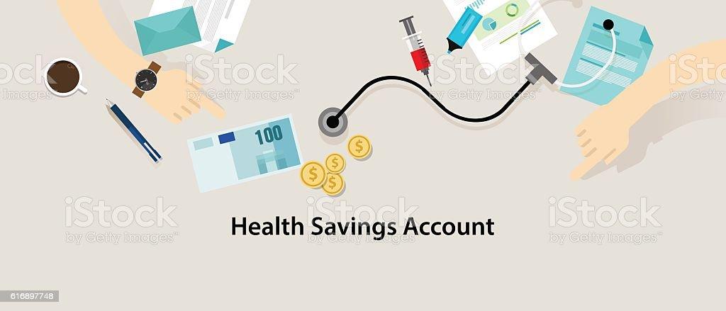 HSA Health Savings Account vector art illustration