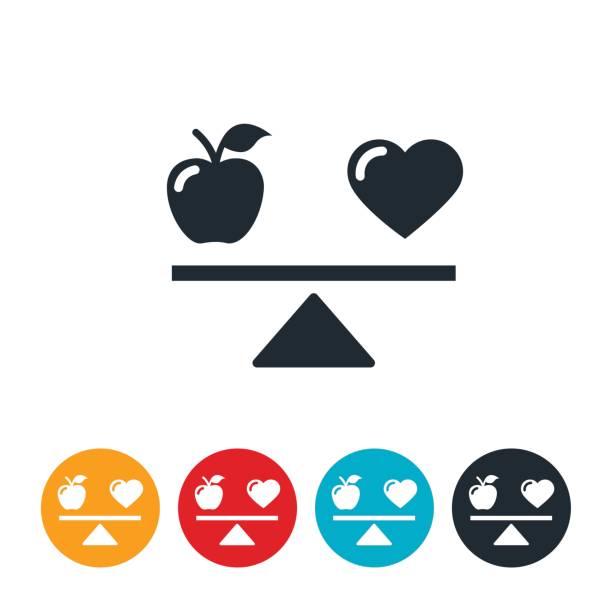 Health Scale Icon vector art illustration