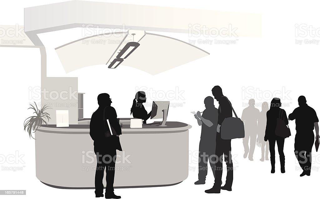 Health Services Vector Silhouette vector art illustration
