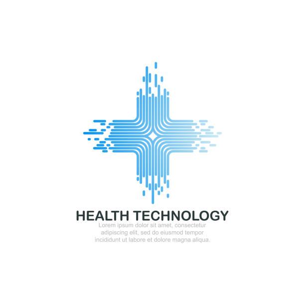 ilustraciones, imágenes clip art, dibujos animados e iconos de stock de plantilla de logotipo de la tecnología de salud. - logos de médico