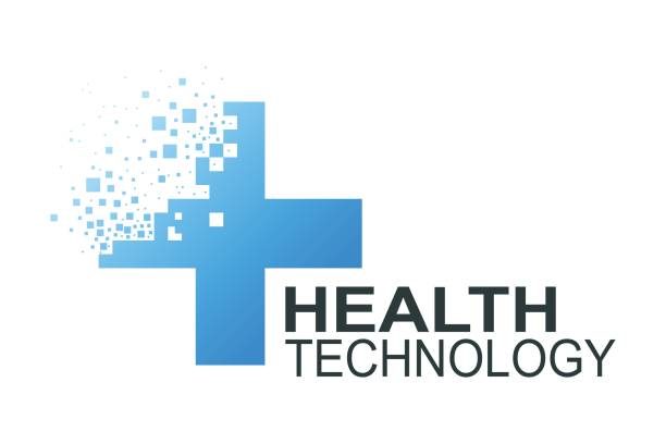 Health technology  template vector art illustration