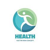 Health - vector logo concept illustration