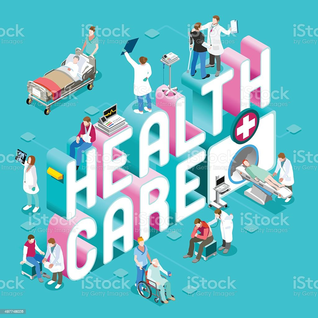 Healthcare 01 Concept Isometric vector art illustration