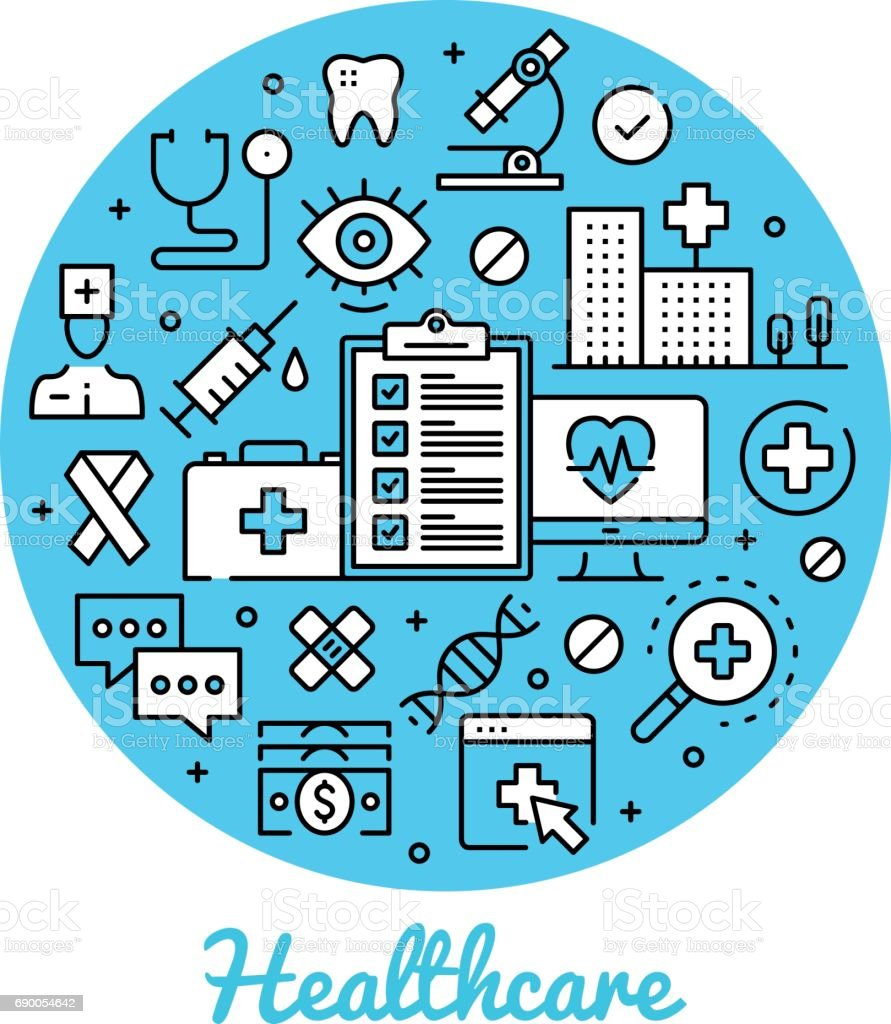 Healthcare Abstract Circle Concepts Health Care Banner ...