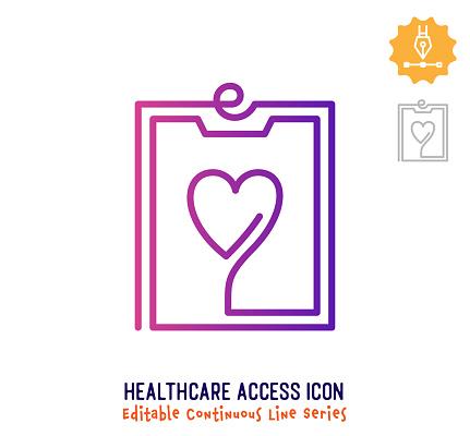 Healthcare Access Continuous Line Editable Stroke Line