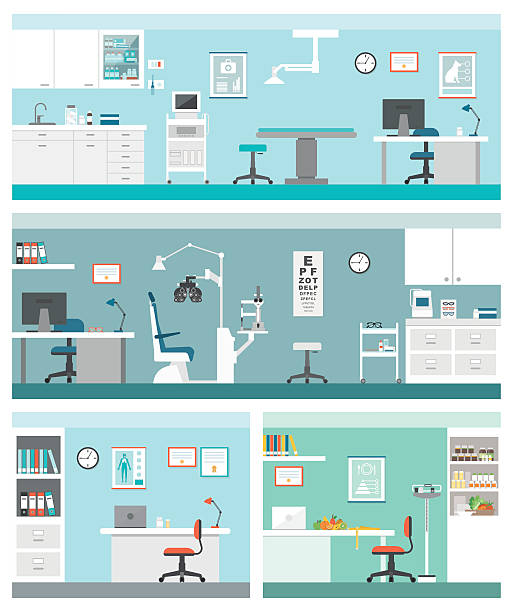 stockillustraties, clipart, cartoons en iconen met healthcare and clinics - dierenziekenhuis