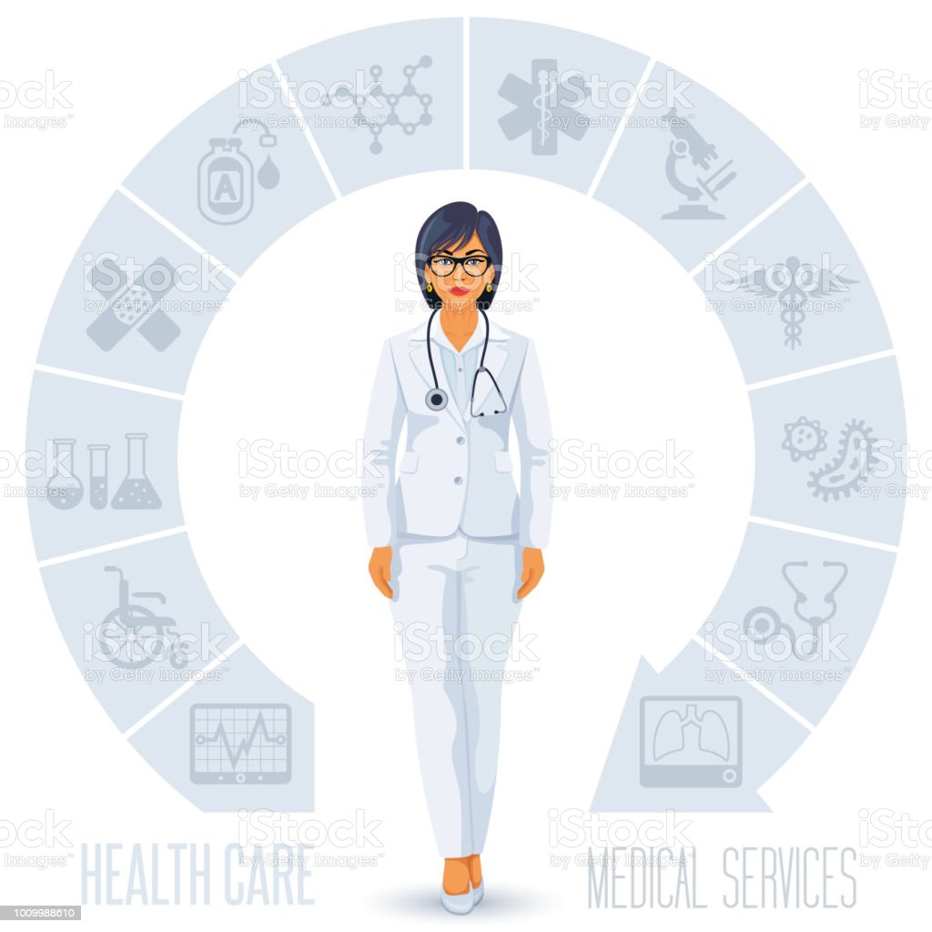 Healthcare and Doctor vector art illustration