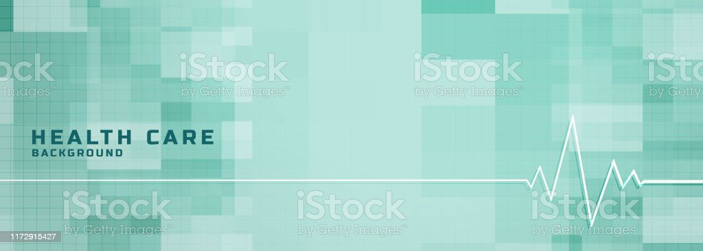 Healthcare And Medical Banner With Heartbeat Line Design Stock Illustration Download Image Now Istock