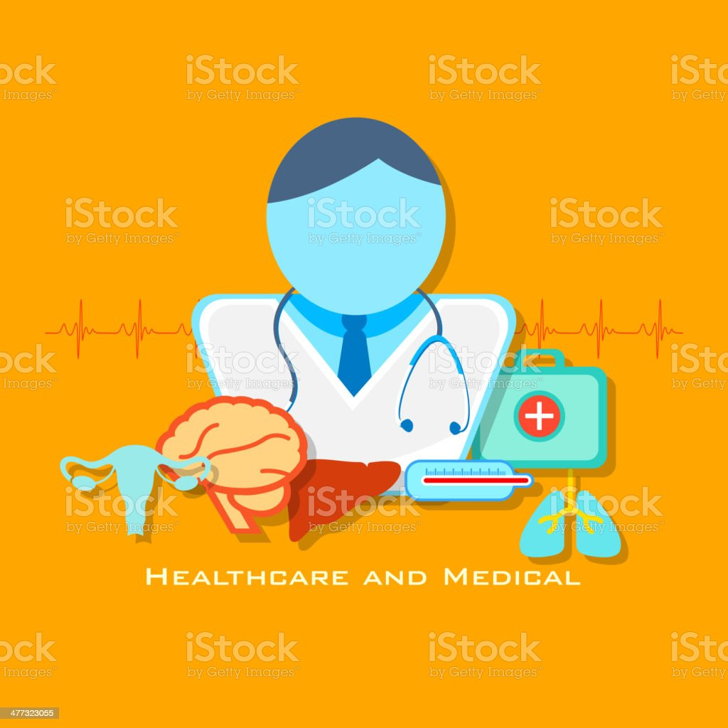 Healthcare and Medical Concept royalty-free stock vector art