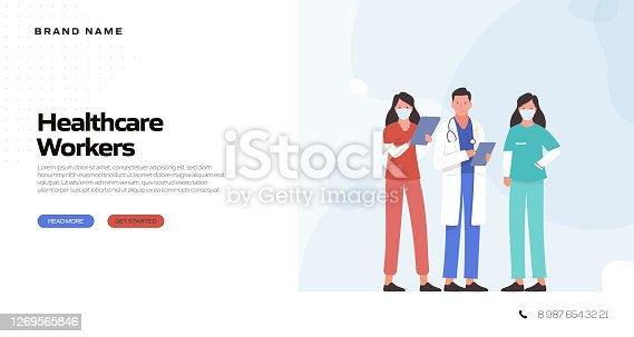 istock Healthcare and Medical Concept Vector Illustration for Landing Page Template, Website Banner, Advertisement and Marketing Material, Online Advertising, Business Presentation etc. 1269565846