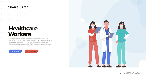 Healthcare and Medical Concept Vector Illustration for Landing Page Template, Website Banner, Advertisement and Marketing Material, Online Advertising, Business Presentation etc.