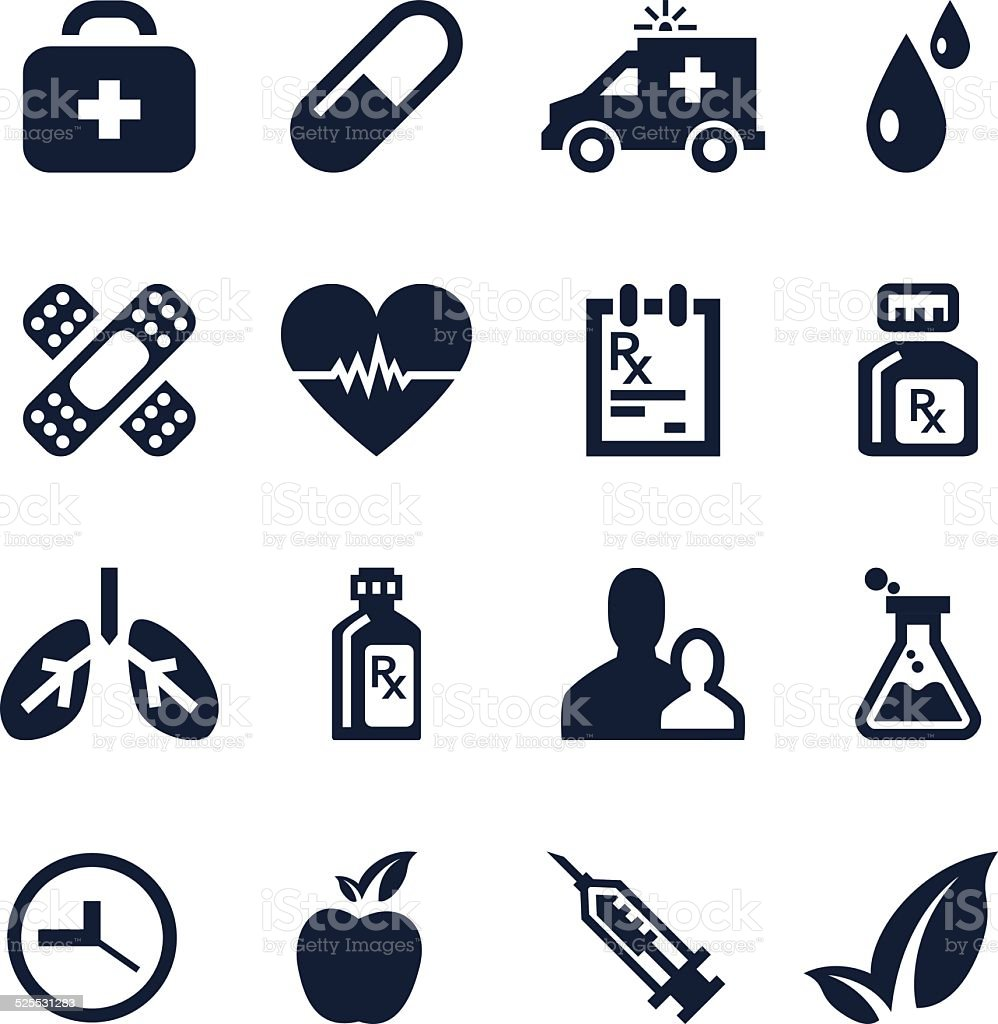 Healthcare and Medical icon set - VECTOR vector art illustration