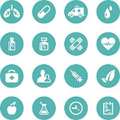 Healthcare and Medical icon set - VECTOR