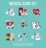 healthcare and medical icons set. infographic design element. vector illustration.