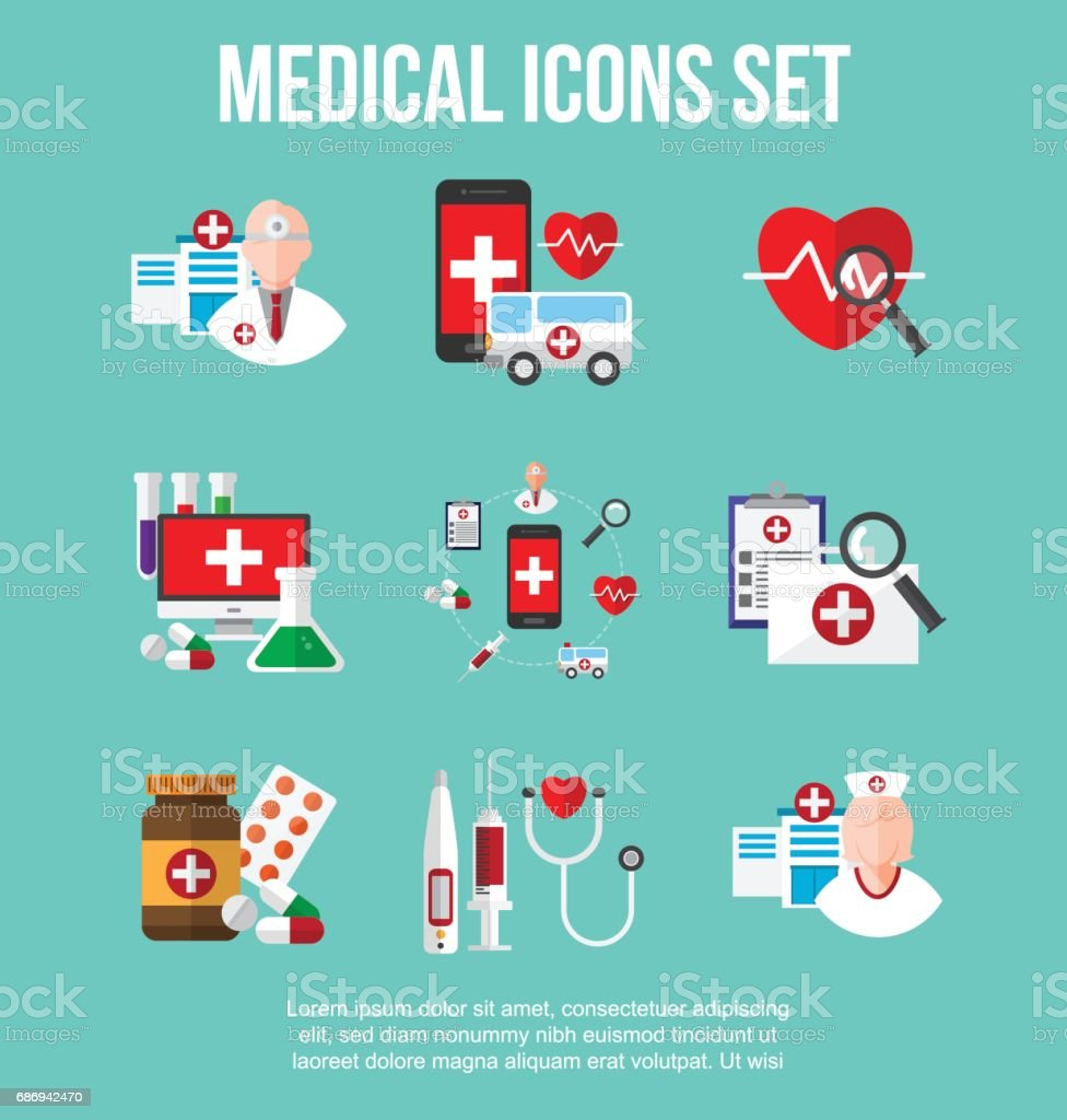 healthcare and medical icons set. infographic design element. vector illustration. vector art illustration