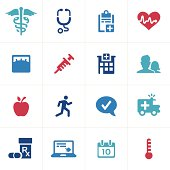 Healthcare and medicine icon and symbol collection.