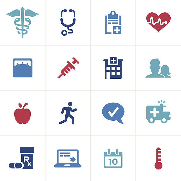 healthcare and medical icons - workout calendar stock illustrations, clip art, cartoons, & icons